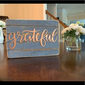 3/$10 Grateful Decor Sign